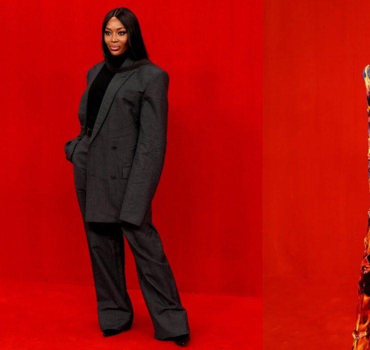 Наоми Кэмпбелл и Наталья Водянова посетили весенний показ Balenciaga, который прошел в формате красной дорожки