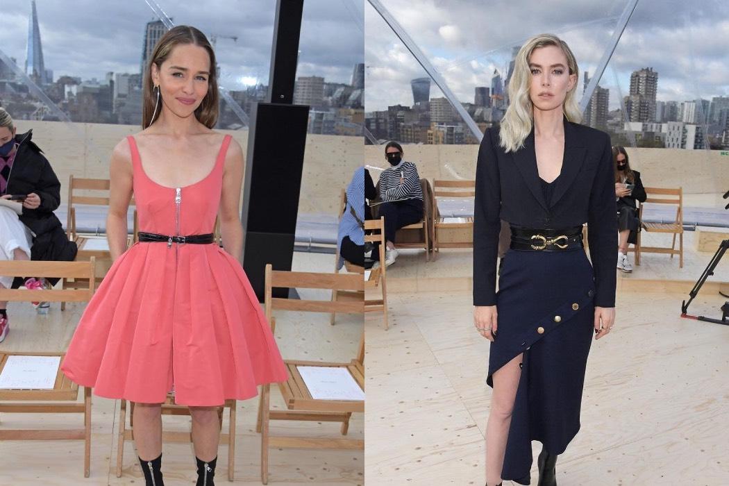Эмилия Кларк и Ванесса Кирби на показе весенней коллекции Alexander McQueen