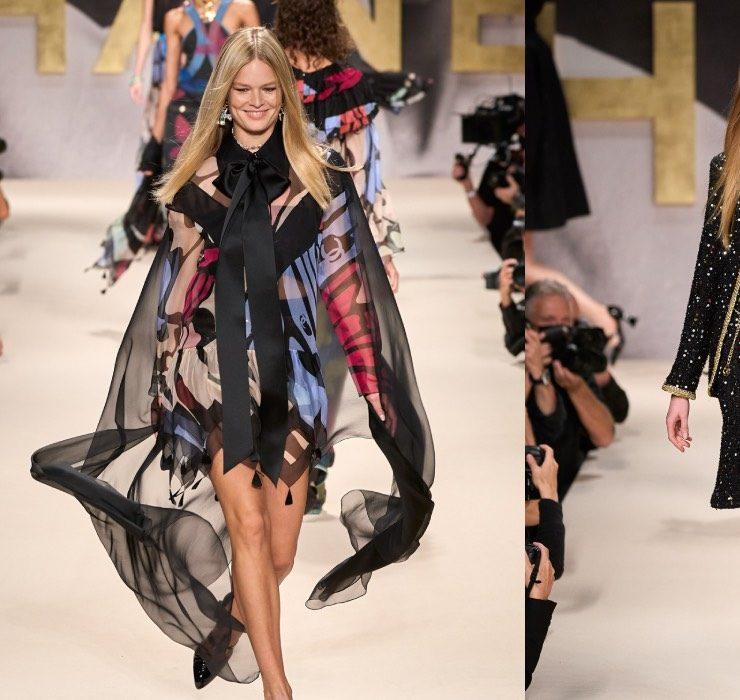 Улыбчивые модели и высокий подиум: показ Chanel возвращает в 1990-е